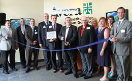 AIHG ribbon cutting