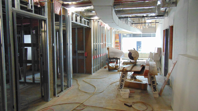 North Addition Phase 2 Construction Interior